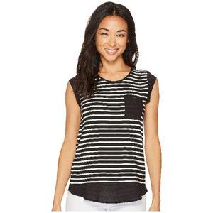 Calvin Klein Short-Sleeve Black/White Stripped Top